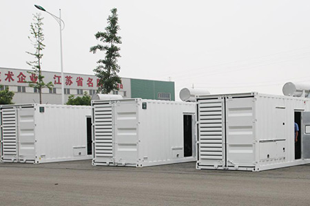 Acceptance of 4 sets of 1000kW container silent unit for Russia World Cup